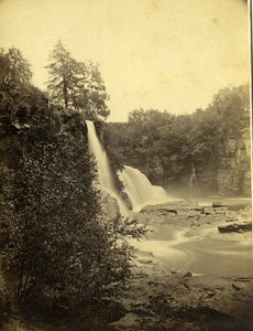 UK Bonnington Falls on the Clyde Old Photo small Cabinet GWW Wilson 1870