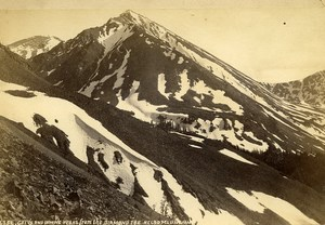 Irwin's Peaks from the Diamond Joe Kelso Mountain Old Photo Cabinet Martin 1870