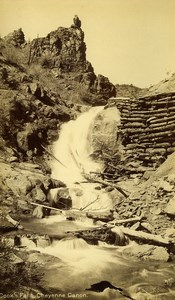 USA Colorado Spring Cook Falls Cheyenne Canon Old Photo Cabinet Hook 1875