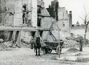 France Dunkerque Dunkirk & Around after WWII House Ruins Horse Old Photo 1946