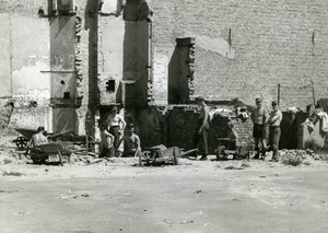 France Dunkerque Dunkirk & Around after WWII Men Working Old Photo 1946