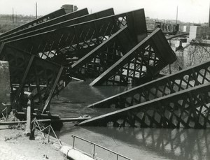 France Dunkerque Dunkirk & Around after WWII Harbour Docks Ruins Old Photo 1946