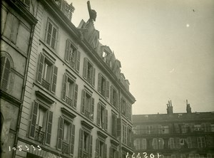 Paris Avenue Grande Armee WWI Aerial Raid by Aircraft Gotha Photo Branger 1918
