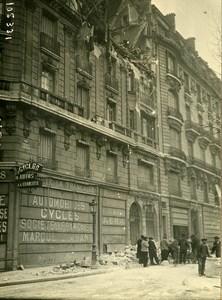 Paris Avenue Grande Armee WWI Aerial Raid by Aircraft Gotha Photo Branger 1918