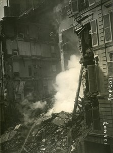 Paris Street Geoffroy Marie WWI Aerial Raid by Aircraft Gotha Photo Branger 1918