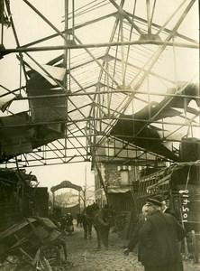 Paris Vincennes WWI Aerial Raid by Aircraft Gotha Old Photo Branger 1918