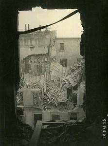 Paris Street Laffitte WWI Aerial Raid by Aircraft Gotha Old Photo Branger 1918