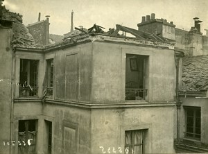 Paris Building WWI Aerial Raid by Aircraft Gotha Old Photo Branger 1918