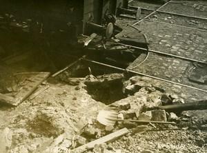 Paris Gare de Lyon WWI Aerial Raid by Aircraft Gotha Old Photo Branger 1918