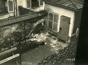 Paris Street WWI Aerial Raid by Aircraft Gotha Old Photo Branger 1918