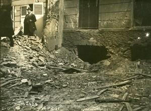 Paris Street Kabylie WWI Aerial Raid by Aircraft Gotha Old Photo Branger 1918