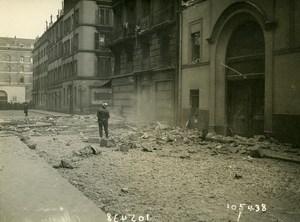 Paris Street Mezieres WWI Aerial Raid by Aircraft Gotha Old Photo Branger 1918