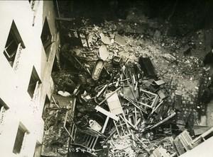 Paris Street Buisson Saint Louis Aerial Raid Aircraft Gotha Photo Branger 1918