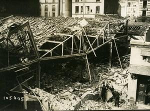 Paris Street Faubourg du Temple Aerial Raid Aircraft Gotha Photo Branger 1918