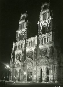 France Orleans by Night Church Old Photo Borremans 1937
