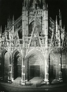 France Rouen by Night Chuch Saint Maclou Old Photo Borremans 1937