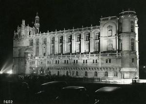 France Castle of Saint Germain en Laye by Night Old Photo Borremans 1937