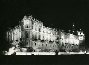 France Castle of Saint Germain en Laye by Night Old Photo Borremans 1937