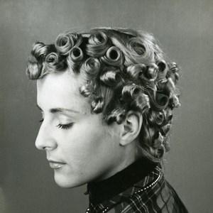 France Paris Hair Advertising Study Old Photo Rossignol 1960