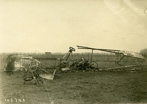 France Around Paris WWI Airplane Plane Gotha Crash Wreck Old Photo Branger 1918