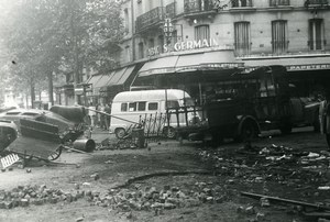 France Paris Riots Barricade Place Maubert Old Photo May 1968