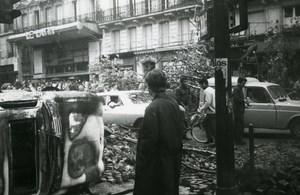 France Paris Riots Boulevard Saint Michel Quartier Latin Old Photo May 1968