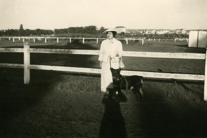 France Lambersart Photographer Shadow at Racecourse Old Photo 1950