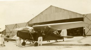 Malaysia Aviation Plane by Hangar Airfield Old Amateur Photo 1935