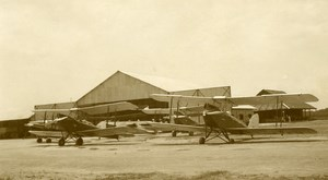 Malaysia Aviation Biplane Airfield Hangar Old Amateur Photo 1935