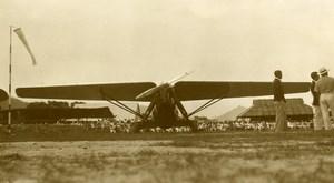 Malaysia Aviation Airshow Monoplane Airfield Hangar Old Amateur Photo 1935