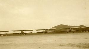 Malaysia Aviation Airshow Biplane Airfield Hangar Old Amateur Photo 1935