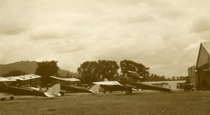 Malaysia Aviation Airshow Biplane DH60G GIPSY MOTH Old Amateur Photo 1935