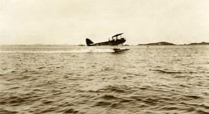 Indonesia Sumatra Aviation Seaplane Old Amateur Photo 1935