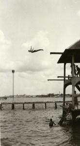 Indonesia Sumatra Sea Diving Diver Old Amateur Photo 1935