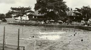 Indonesia Sumatra Seaside Swimming Pool Sport Old Amateur Photo 1935