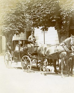 France Paris Horses Parisians Transport Old Photo Amateur 1890