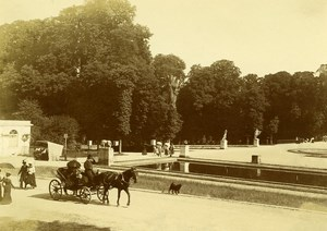 France Saint Cloud Park Horse Carriage Promenade Old Amateur Photo 1899