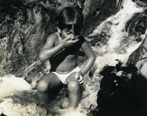 Israel Amiram Little Israeli Boy Child Old Photo Maziere 1969