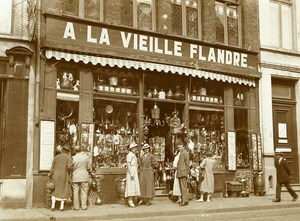 France Roubaix Shop Window A la Vieille Flandre Old RPPC Victor Vajda Photo 1930