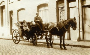 France Roubaix Horse Cab Old RPPC Victor Vajda Photo 1930