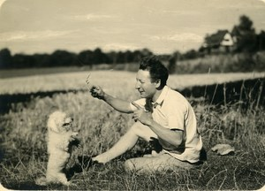 France Roubaix Man and his Dog Old Victor Vajda Photo 1930