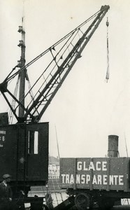 France Roubaix Docks Clear Ice Old Victor Vajda Photo 1930