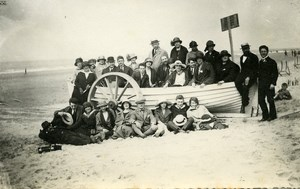 France Roubaix Esperanto Group in Barge Beach Old Victor Vajda Photo 1930