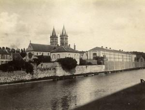 France Melun River Seine the Jail Prison Church Old Photo 1890