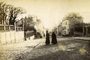 France Melun Cobblestone Street Old Photo 1890