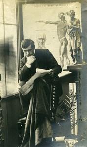France Melun Workshop Study Anatomy Poster Old Photo 1890