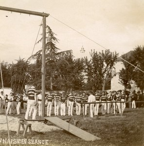 France Sports Team Force Basque ? Gymnasts ? Old Amateur Photo 1890