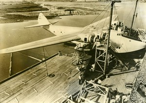 USA Seattle Aviation Flying Boat Seaplane Atlantic Clipper Old Press Photo 1938