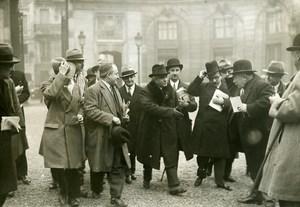 France Paris Paul Boncour arriving at the Elysée Old Meurisse Photo 1933