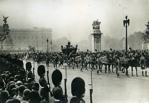 UK London King and Queen Royal Procession Old Meurisse Photo 1930